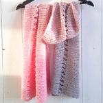 Losse boogjes sjaal gratis haakpatroon haken