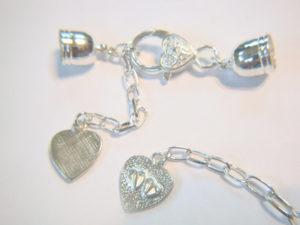 crochet bracelet pattern end cap heart