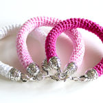 free crochet pattern bracelet spring summer mothersday gift