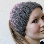 Lovely heart hat with the knit stitch