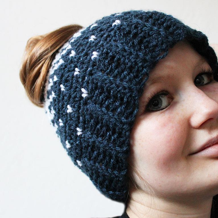 lovely heart hat free crochet pattern