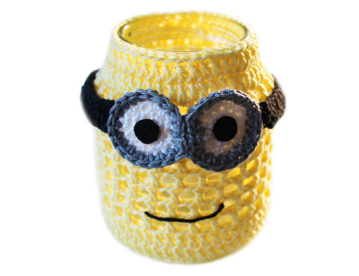 minion jar crochet