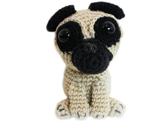 free crochet pattern pug dog