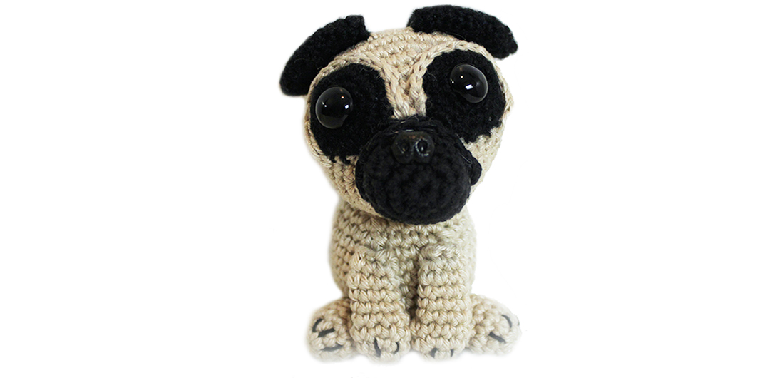 Pug pattern - free amigurumi pug crochet pattern