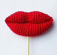 Free crochet pattern lips