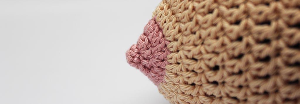 Breastfeeding hat beanie free crochet pattern