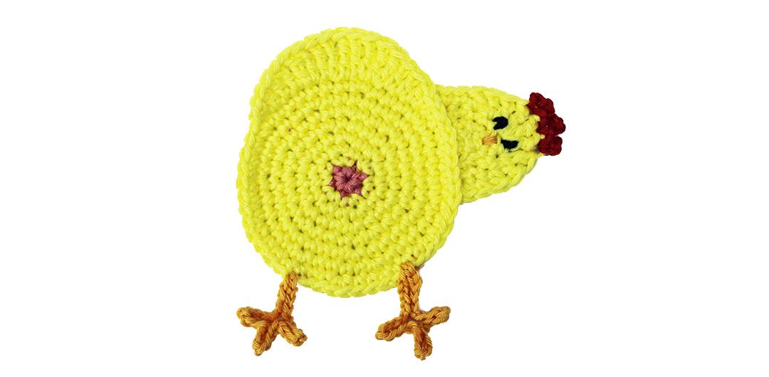 Kippen Onderzetters Gratis Haakpatroon Haken