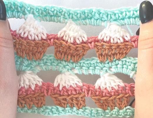 cupcake stitch free crochet pattern