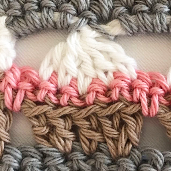 Crochet cupcake stitch border free pattern