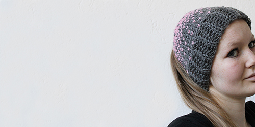 lovely heart knit hat free crochet pattern