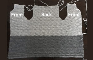 body part of my free crochet cardigan pattern
