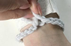 sleeve of my free crochet cardigan pattern