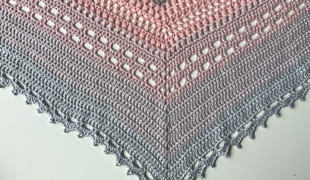Bella Vita Shawl crochet bottom close-up