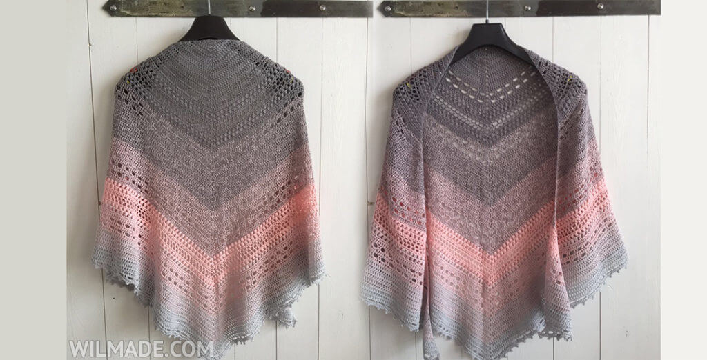 Crochet Shawl Free Pattern Bella Vita Shawl By Wilmade