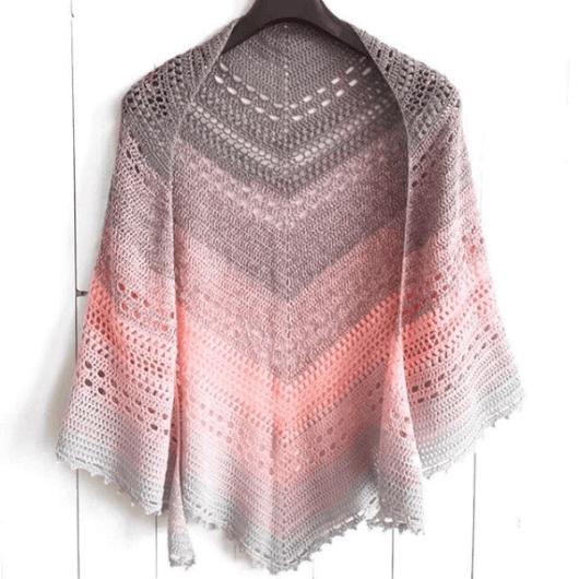 Bella Vita shawl - free crochet pattern - square