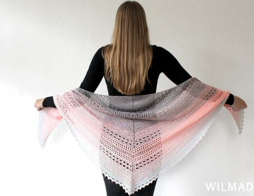 Wilma Westenberg with Bella Vita Shawl free crochet pattern
