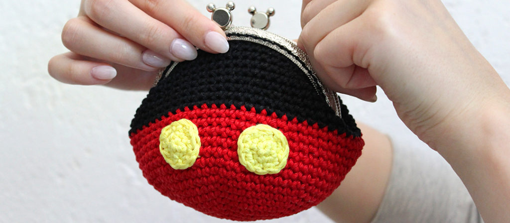Mickey Mouse Coin Purse Free Crochet Pattern