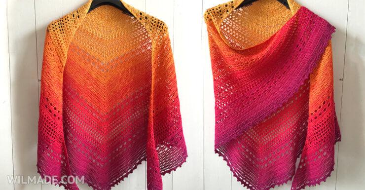 Bella Vita Sjaal - gratis omslagdoek haakpatroon gemaakt met Scheepjes Whirl