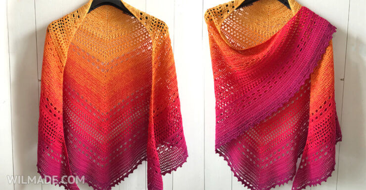 Bella Vita Shawl - free crochet shawl pattern - Scheepjes Whirl
