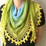 pom pom happiness shawl free crochet pattern