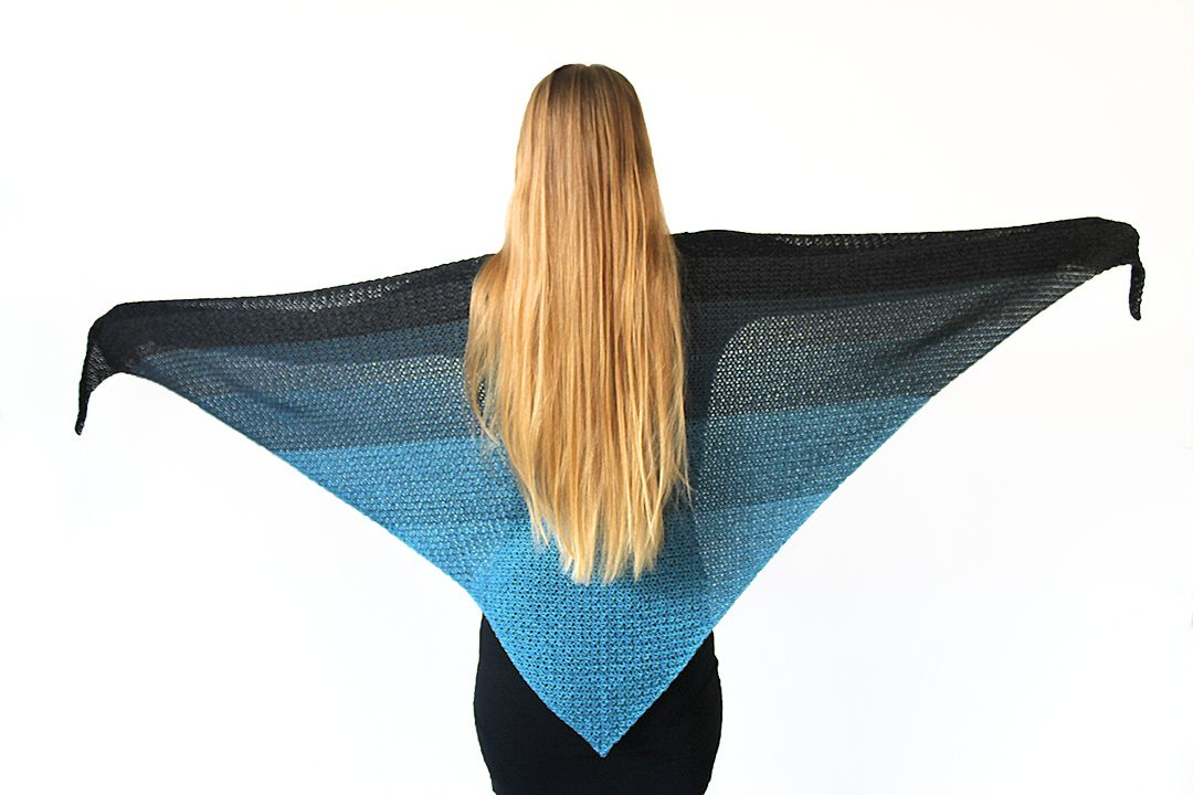 Simple Triangle Shawl Pattern For Crochet Beginners Never Ending Shawl