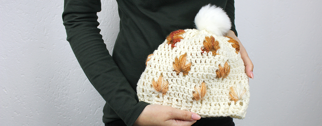 Leafly Autumn Hat - free crochet pattern