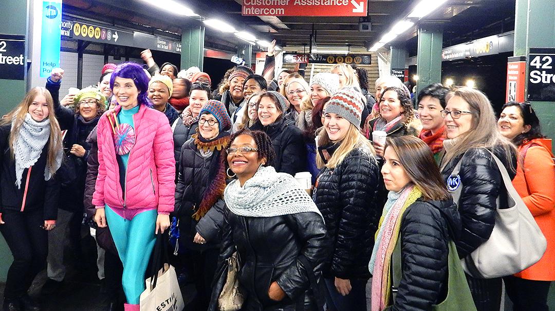Subway storm vogue knitting live new york 2018