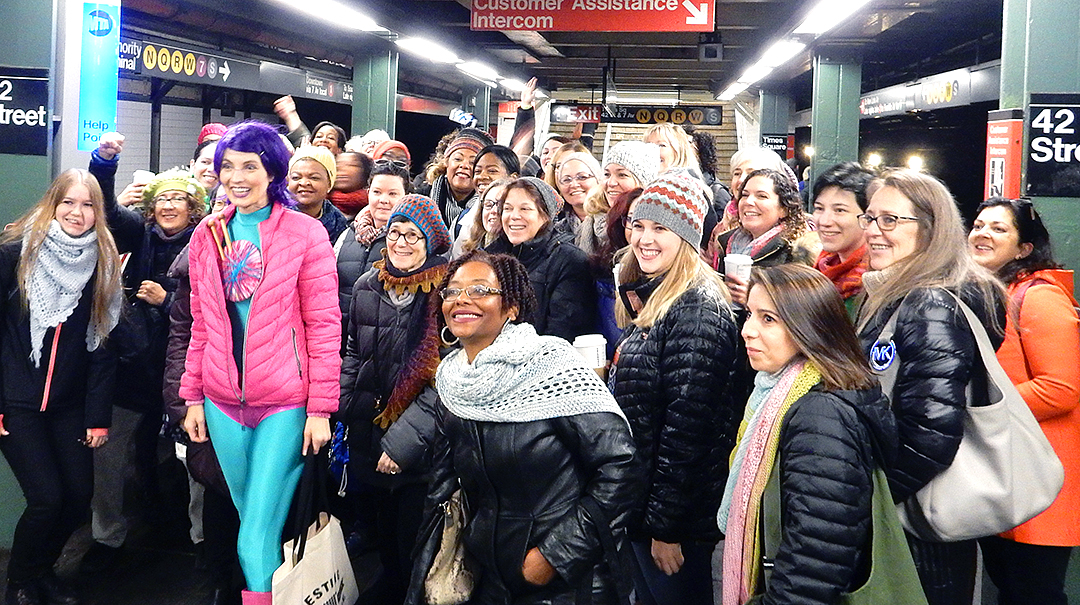 Subway storm vogue knitting live new york 2018