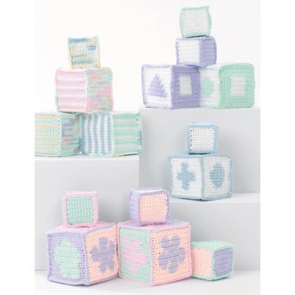 Baby's Blocks in Lily Sugar 'n Cream Solids - free baby crochet patterns