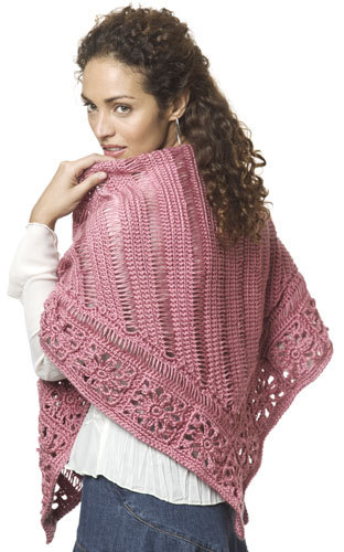 Friendship Shawl by Kim Guzman - free crochet triangle shawls patterns
