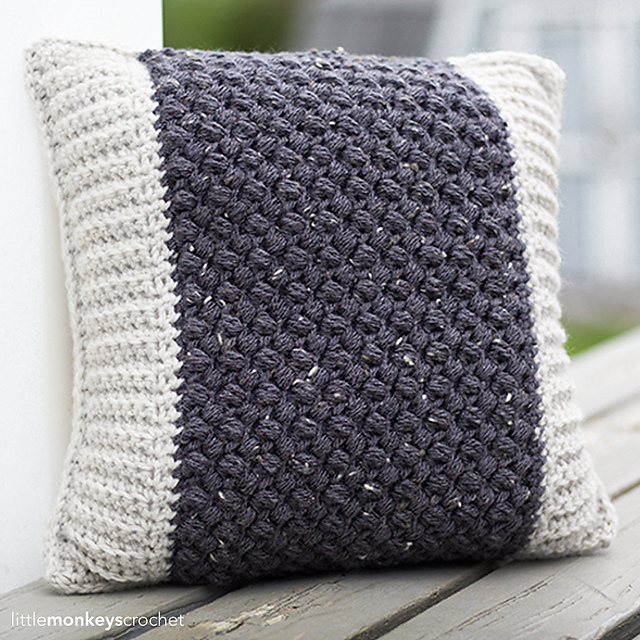 Bean Stitch Accent Pillow by Rebecca Langford Mother's day crochet patterns