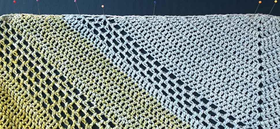 Blocking crochet project to get a better shape