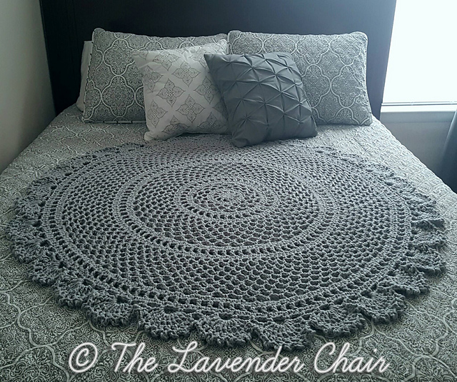 Ring Around the Rosie Mandala Blanket by Dorianna Rivelli Mother's day crochet patterns