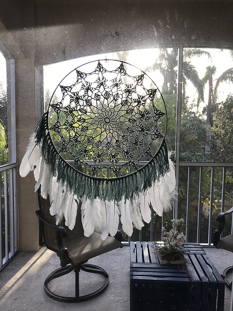 Serene Mandala Dreamcatcher by Kristin Omdahl Mother's day crochet patterns