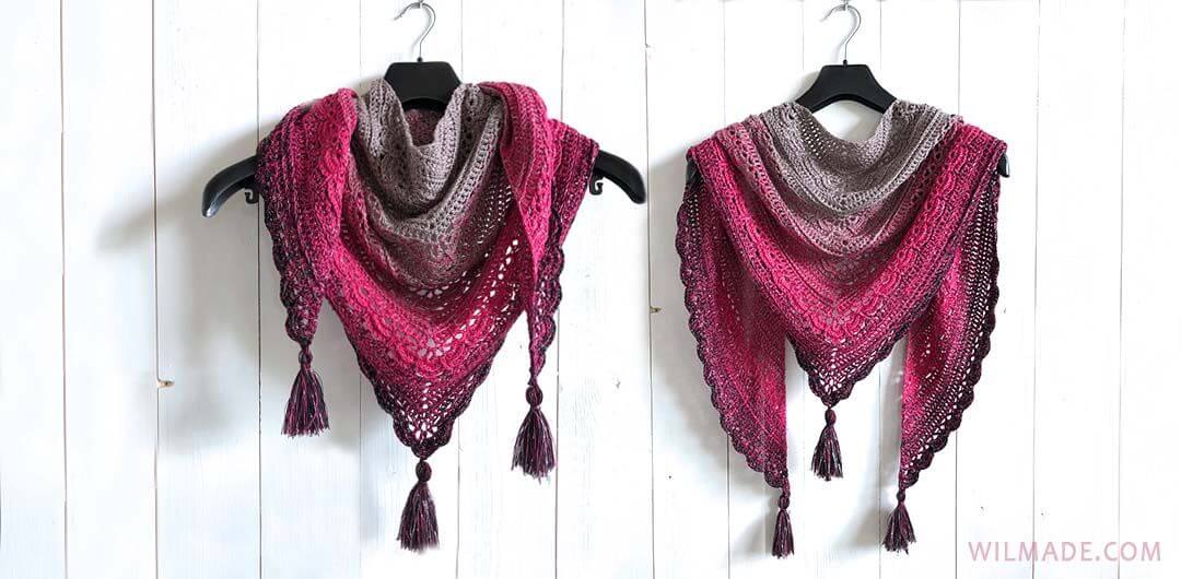 Ana Lucia Shawl Free Crochet Shawl Pattern By Wilmade