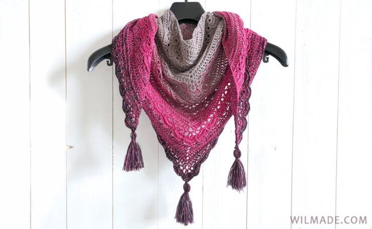 Ana Lucia Shawl Free Triangle Shawl Crochet Pattern