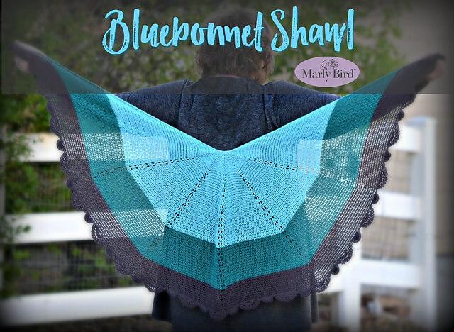 Blue Bonnet Shawl by Marly Bird - crochet shawls for summer