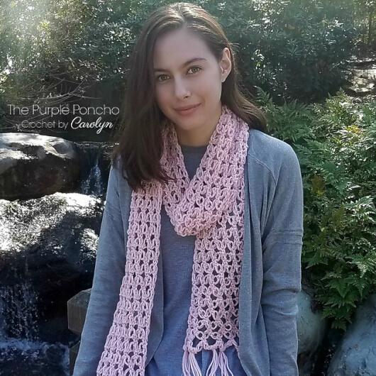 Love Knot Scarf by Carolyn Calderon - crochet shawls for summer