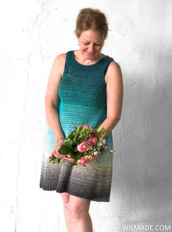 Simple Collar Dress - a free crochet dress pattern by Wilmade