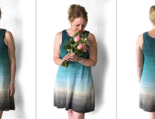 Simple Collar Dress - free crochet dress pattern by Wilmade.com