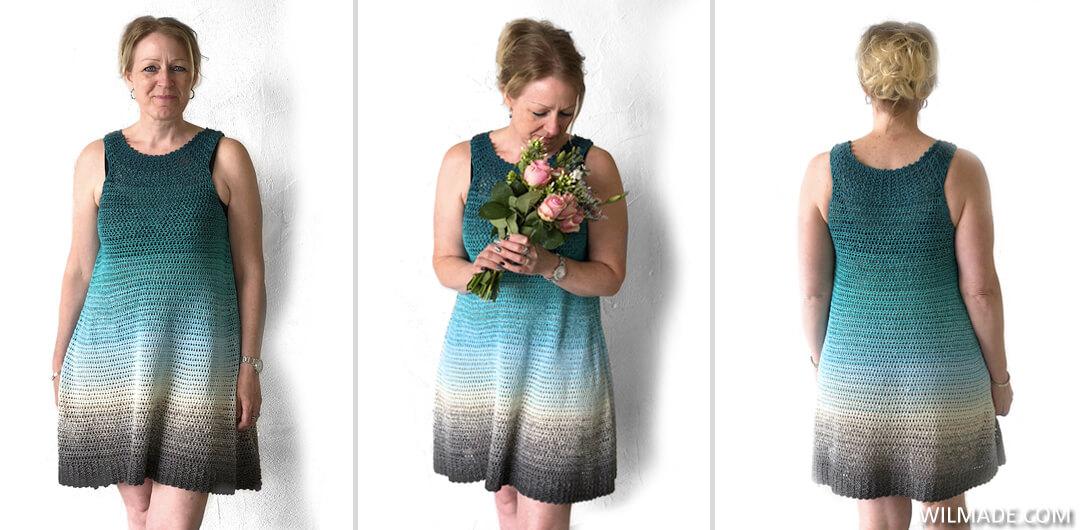 Simple Collar Dress Free Crochet Dress Pattern By Wilmade