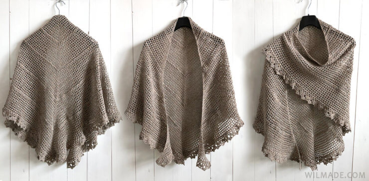 Durable Friendship Shawl - free crochet shawl pattern
