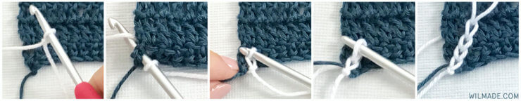 Miss Mille Scarf - free crochet scarf pattern - how to start surface slip stitch
