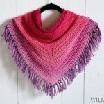 Double Crochet All The Way Shawl - easy crochet shawl pattern - Folded
