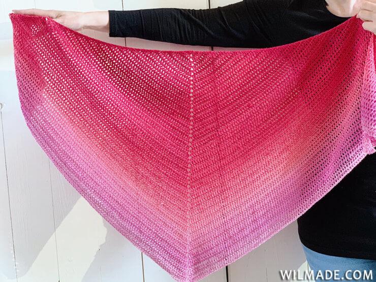 Double Crochet All The Way Shawl - simpele gehaakte sjaal - gratis haakpatroon met Scheepjes Whirl