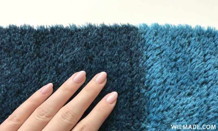 Fluffy crochet triangle shawl - Katia Velour Degrade yarn