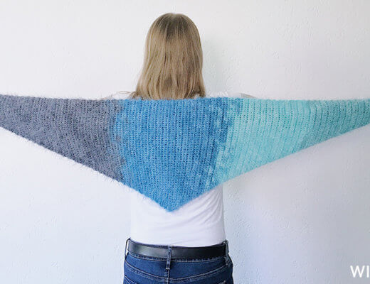 Its so fluffy shawl - free crochet shawl pattern - Lion Brand Soft Spoken