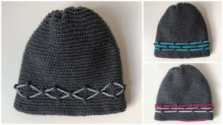 Milestone Journey hat - crochet hat - examples of designs