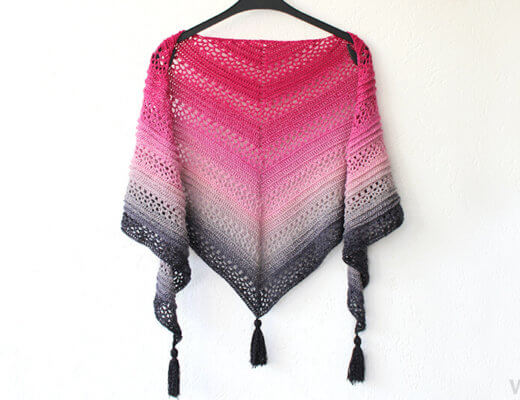 This Is Me - Free crochet triangle shawl pattern by Wilmade - Scheepjes Whirl