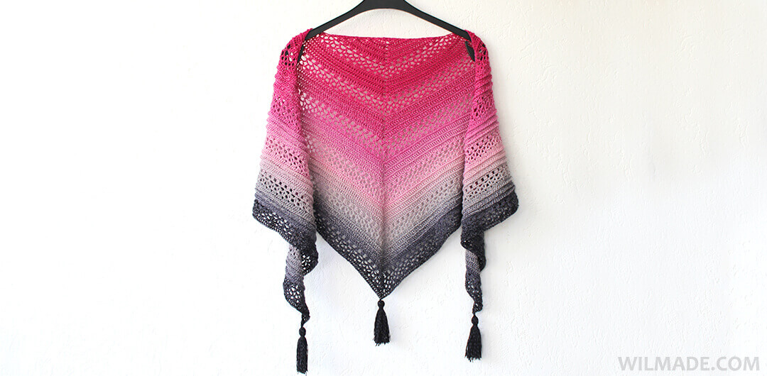 Triangle Shawl Free Crochet Pattern To Make The This Is Me Shawl
